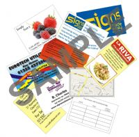 PREMIUM - 1000, Double sided business cards............ 13p per card